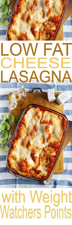 This is a Weight Watchers Easy Cheese Lasagna. At just 6 points per serving, its the perfect meal to enjoy while counting those points.