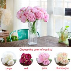 5 Heads Artificial Flowers Peony Bouquet Silk Flowers Bridal Bouquet Fall Vivid Fake Flowers For Wedding Home Autumn Decoration Price: & Flat Rate Shipping Fake Flowers, Artificial Flowers, Silk Flowers, Peonies Bouquet, Peony, Bridal Bouquet Fall, Flat Rate, Fall Decor, Wedding Flowers