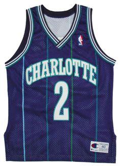 Charlotte Hornets New Jersey's | Larry Johnson Authentic Charlotte Hornets NBA Jersey 40 | eBay
