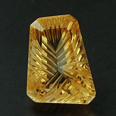 Exquisite Custom Cut Citrine 6ct by madcityfinearts on Etsy, $22.50