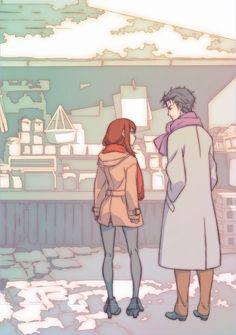 Steins;Gate  Kurisu and Okabe