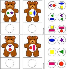 Aprender las formas Art Activities For Toddlers, Infant Activities, Book Activities, Teaching Kids, Kids Learning, Sudoku, Bear Theme, Tot School, Preschool Activities