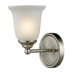 Cornerstone Lighting 5601BB Sudbury 1 Light Bathroom Sconce With Frosted  Glass S Brushed Nickel Indoor Lighting