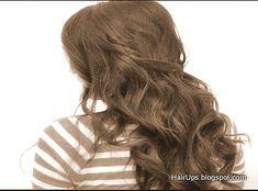Boho chich braided waves for long hair, half down hairdo, everyday, bridesmaid, brides, hair tutorial    7 Easy, Quick Everyday Hairstyles for Long Hair & for Medium Hair - Half-Up Hairstyle Updo   http://youtu.be/BTxu4Ay2fPo