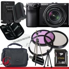 Sony Alpha NEX-7 Digital Camera with 18-55mm Lens (Black) Package 4 by Sony. $1319.00. Package Contents:  1- Sony Alpha NEX-7 Digital Camera with 18-55mm Lens (Black) with all supplied accessories 1- 8GB SDHC Class 10 Memory Card 1- Rapid External Ac/Dc Charger Kit   1- USB Memory Card Reader  1- Rechargeable Lithium Ion Replacement Battery  1- Weather Resistant Carrying Case w/Strap  1- Pack of LCD Screen Protectors  1- Camera & Lens Cleaning Kit System  1- Min...