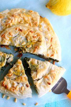 Spanakopita, Winter Food, Quiche, Food To Make, Vegetarian, Cookies, Baking, Breakfast, Ethnic Recipes