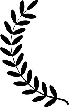 Laurel wreath single twig by pnxflower wreath svg transparent stock black and whiteCollection of Olive branch silhouette Leaf Template, Flower Template, Circle Borders, Leaf Stencil, Fleurs Diy, Laurel Wreath, Giant Paper Flowers, Silhouette Design, String Art