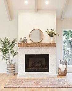 Our 2nd favorite thing (floating shelves being our 1st favorite) is floating mantels! They make a fireplace look fresh and modern!