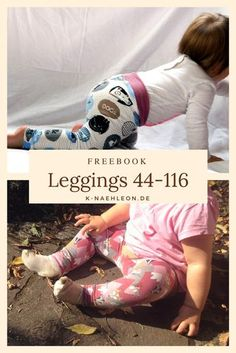 Kostenloses Schnittmuster für die Baby- und Kinderleggings Luna. Ideal auch für Frühchen, als Geschenk zur Geburt oder um ein Partner-Outfit für die Puppe zu nähen.