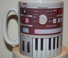 KORG Microkorg coffee mug. OMG, love this. Someone, please get this for me!