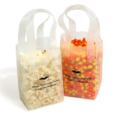 Personalized Frosted Bags with Bat Design