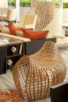 Lobby at Trump Ocean Club International Hotel & Tower Panama, designed by HBA/Hirsch Bedner Associates