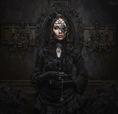 COM Amazing what a little jewelry can do to a look 0 Magnetic Gothic Steampunk Women Costumes - Steampunko Moda Steampunk, Style Steampunk, Gothic Steampunk, Steampunk Fashion, Victorian Gothic Fashion, Steampunk Outfits, Victorian Era, Gothic Mode, Dark Gothic