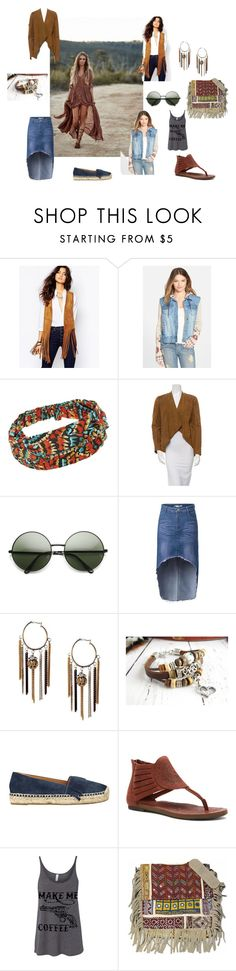 """""""boho summer"""" by olga-krutilina ❤ liked on Polyvore featuring BLANKNYC, Billabong, Marc Fisher, Cushe, Vintage Addiction, women's clothing, women, female, woman and misses"""