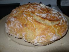 easy overnight crusty artisan bread - only four ingredients and so good!