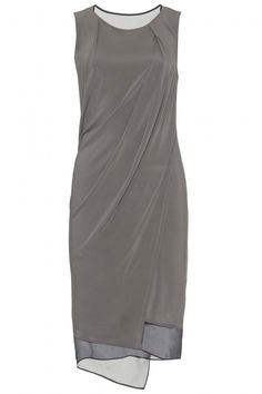 Helmut Lang Stretch Dress With Sheer Inserts