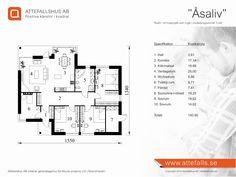 """Villa """"Åsaliv"""" planritning  Besök www.attefalls.se"""