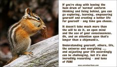 Go exploring consciousness. It just takes a bit more awareness and attentions span than a chipmunk.