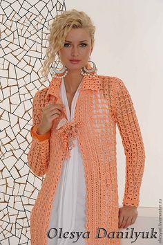 """Авторское пальто """"Абрикосовый мед"""" - абрикосовое пальто,оригинальный подарок"""