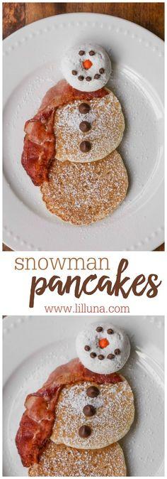 EASY Snowman Pancake