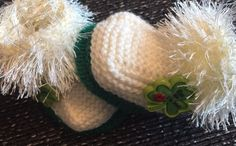NEW Unisex Quality  baby booties Shamrock Kiss Me I'm  Irish Hand Knit By Annie  | eBay