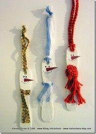 baton de glace, tissu, laine, crayon CP-CE