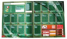 Panini Checkliste WM 2010 Mexiko ohne Sticker