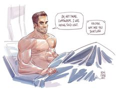 Give it up for everybody's favorite Canadian Crewman, Kaidan Alenko! Visiting this shirtless goober at the hospital always cracks me up. Mass Effect Quotes, Mass Effect Art, Kaidan Alenko, The Warden, Happy Canada Day, Dragon Age, Nerdy, The Outsiders, Video Games