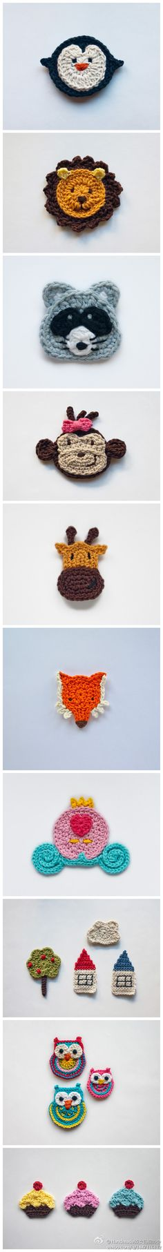 animals, cinderella's carriage - good embellishments for a blanket/ hat/ scarf?