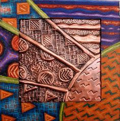 Art News at Lakeview: April 18th-April 22nd Copper Repousse, or the technique of tooling small sheets of copper paper to create a low relief made from creative line designs.