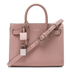 Saint Laurent Nano Sac de Jour ($2,040) ❤ liked on Polyvore featuring bags, handbags, brown hand bags, yves saint laurent, man bag, brown handle bags and pocket purse
