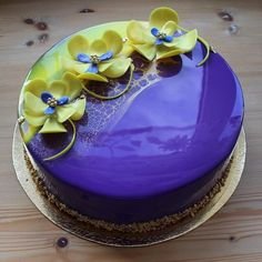 Mirror Glazed Cake Recipe by Marielle Ashe - Musely Cupcakes, Cupcake Cakes, Mirror Glaze Cake, Mirror Cakes, Decoration Patisserie, Fancy Desserts, Healthy Desserts, Pastry Art, Beautiful Desserts