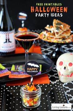 Simple and Spooky Halloween Party Ideas with fun Free Printables! LivingLocurto.com