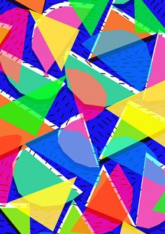 80s shapes - Sarah Bagshaw Abstract Shapes, Abstract Pattern, Geometric Shapes, Cute Wallpapers, Wallpaper Backgrounds, Iphone Wallpaper, Textures Patterns, Print Patterns, Trippy Pictures