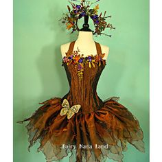 Copper Woodland Faerie - adult corset top fairy costume bust ...