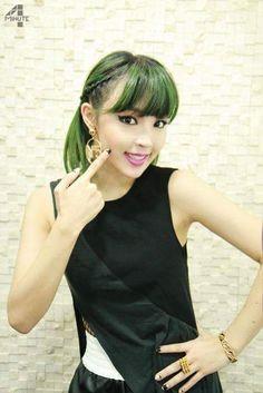 Cute green short hair