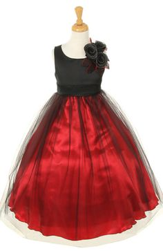 Flower Girl Dresses - Christmas Dresses - Flower Girl Dresses Discount Cheap Designer Dressforless - CC1111 - Black and Red Flower Girl Dress
