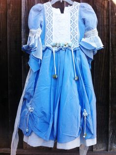 4pc Costume Halloween Blue Little Bo Peep Miss by RoseGardenBridal