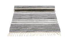 MONOQI | 75x200 Baumwollteppich - Grau
