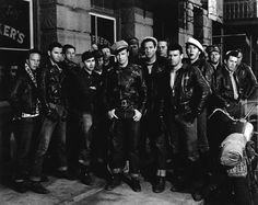 The Best Biker Jackets of All Time: From MarlonBrando to Rihanna – Vogue - Marlon Brando in The Wild One, 1953.
