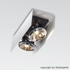 Deltalight - Outfit U 211 T50 Deckenstrahler - weiß/36,0x14,4x11,0cm/ohne Leuchtmittel