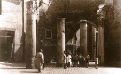 Via del Portico d'Ottavia 1900 Italy Pictures, Old Pictures, Old Photos, Best Cities In Europe, Lost City, Ancient Rome, Past, History, World