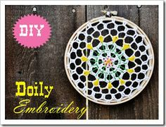 pretty embroidered doily
