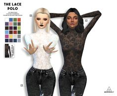 The Lace polo at Miss Paraply via Sims 4 Updates
