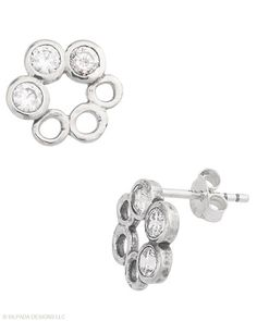 Accentuate the positive! These #Earrings make for great style. #CubicZirconia, #SterlingSilver. #Silpada #Sparkle
