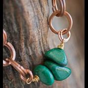 Hammered Copper and Jade