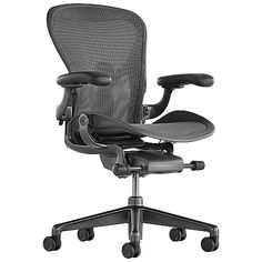 Herman Miller Aeron Office Chair - Size A, Carbon - AER1A11DWSZSCRBSNCDCRBBDCR23102 - Herman Miller Authorized Retailer