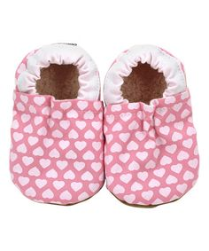 Love this Pink & White Hearts Booties on #zulily! #zulilyfinds