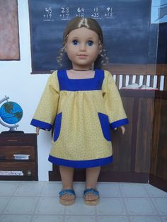 1970's Babydoll dress with contrast trim and by GomunkCreations, $12.00