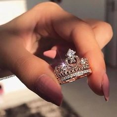 such a pretty princess ring Cute Jewelry, Jewelry Accessories, Silver Jewelry, Bridal Jewelry, Yoga Jewelry, Indian Jewelry, Fashion Accessories, Silver Rings, Accesorios Casual